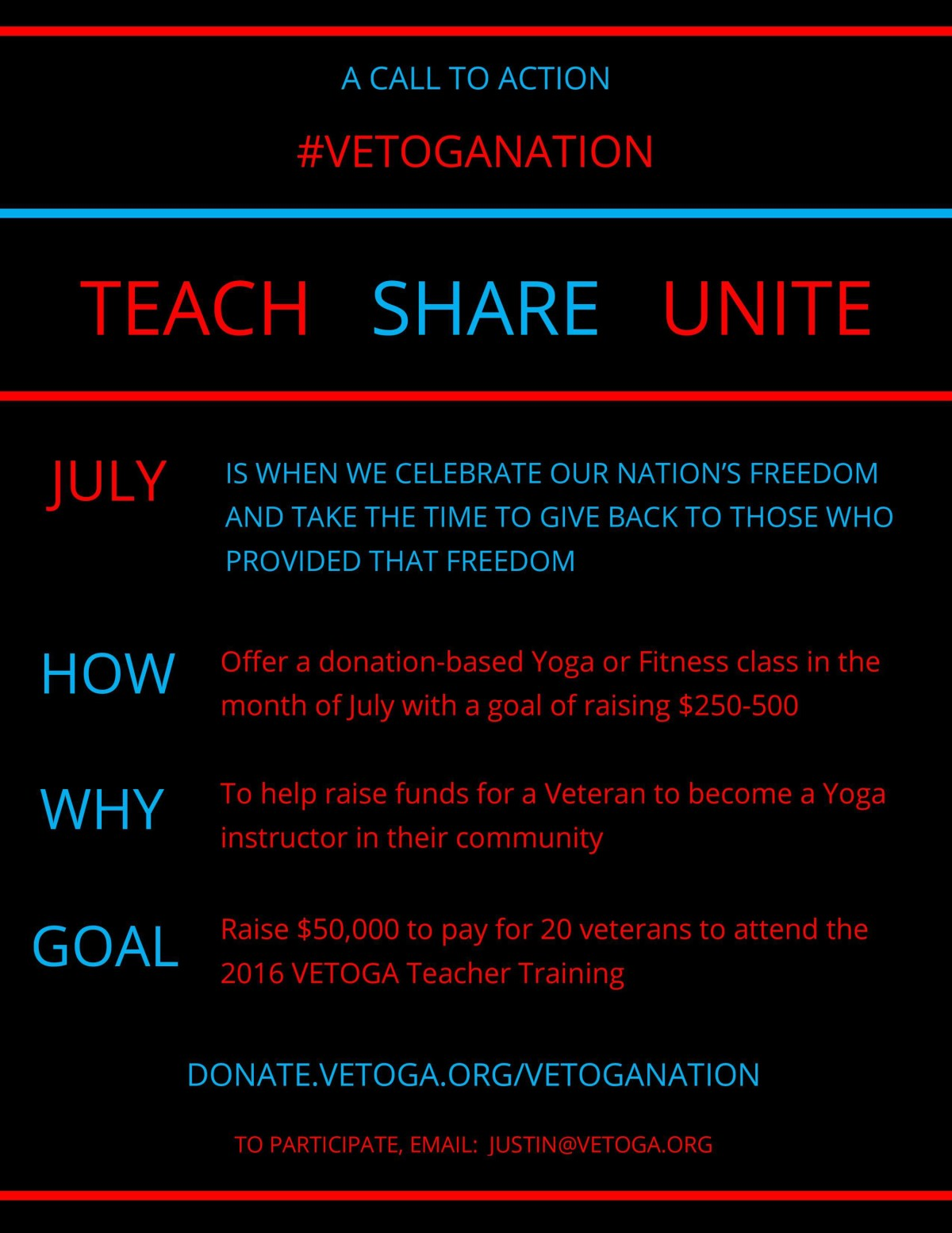 A Call to Action - #VETOGANATION